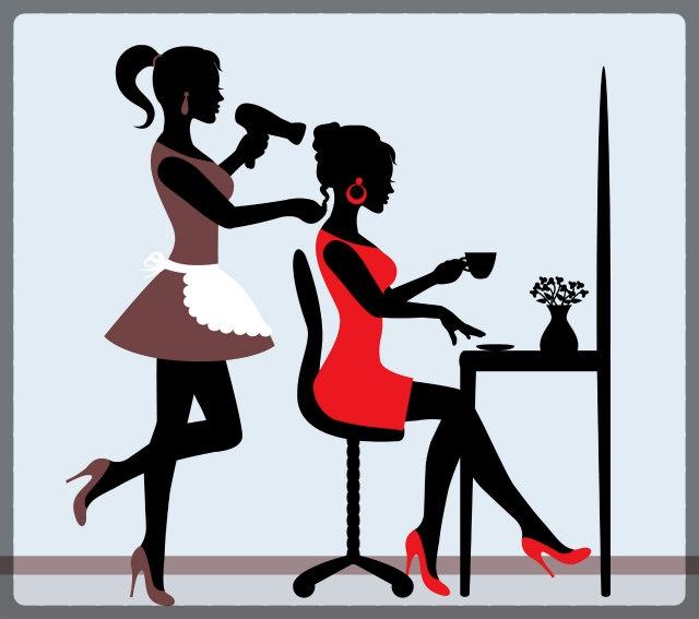 女性の理容師も増えている