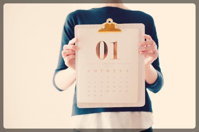 カレンダーでダイエットの目標を設定する